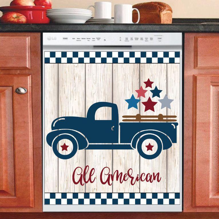 Country Decor Kitchen Dishwasher USA Patriotic