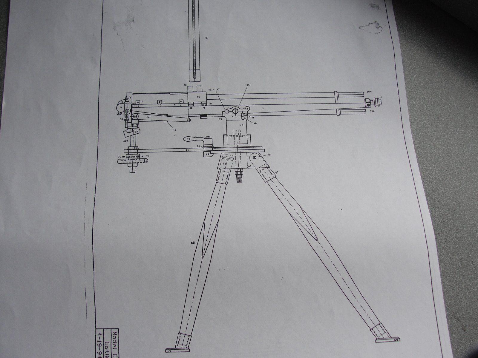 Gatling Gun Blueprints   eBay   Steampunk   Nonfiction books