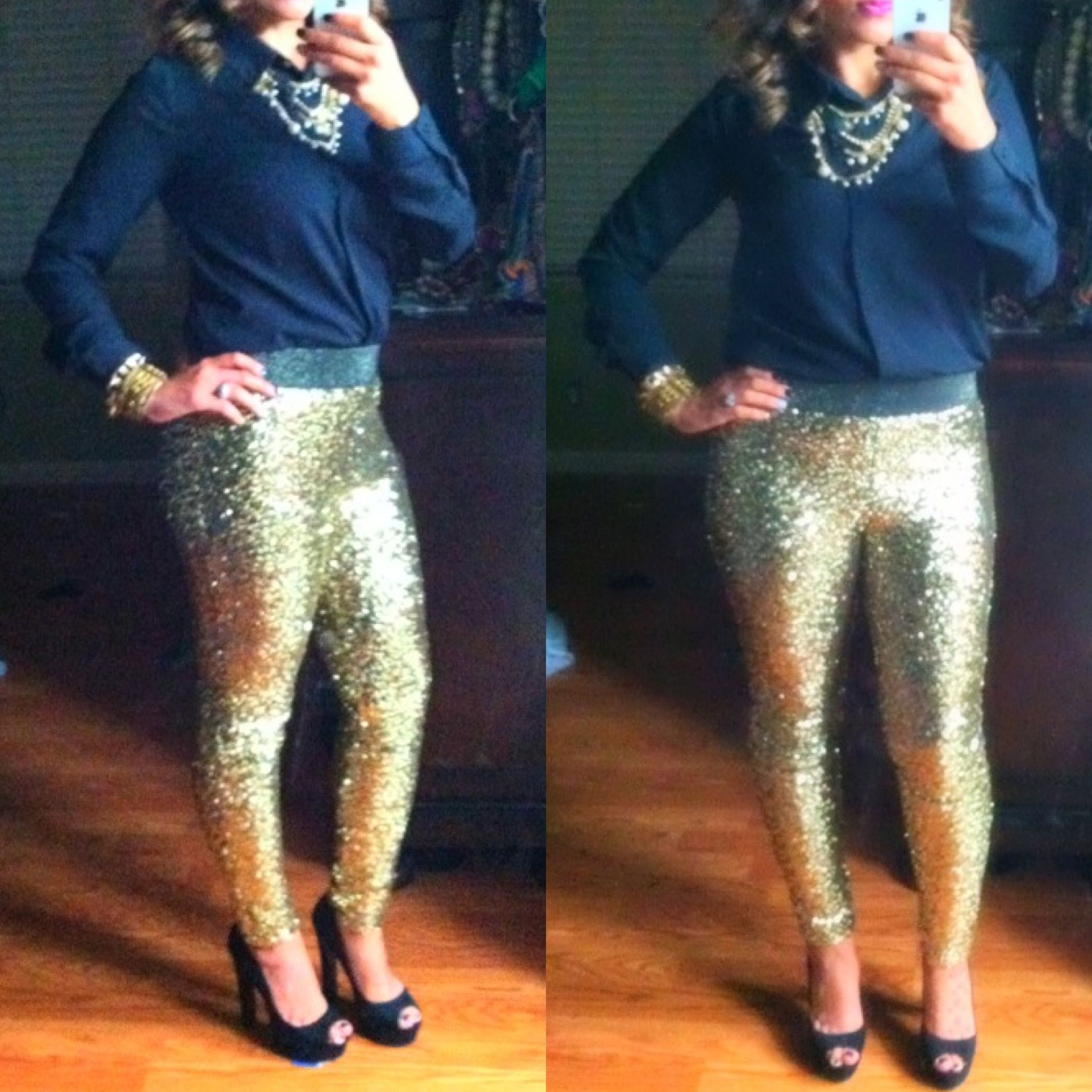 New Year's Eve outfit but, would wear black top