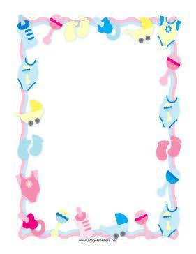 Resultado De Imagen Para Baby Girl Border Scrapbook Frames Free