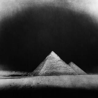 Vera Lutter - Chephren and Cheops Pyramids, Giza: January 28, 2010, Photograph
