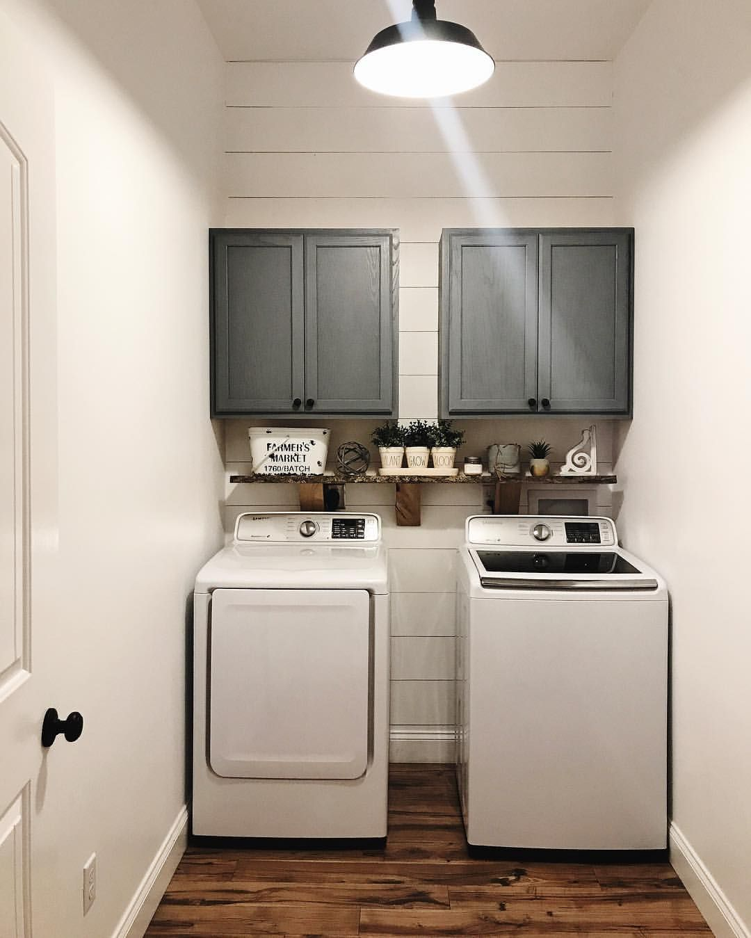 Farmhouse laundry room. White laundry rooms shiplap laundry room