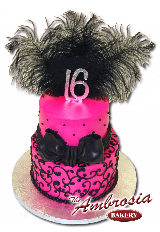 2 Tier Sweet 16 Cakes