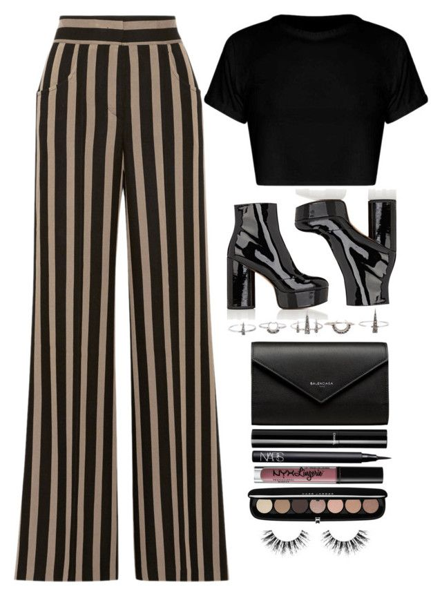 """""""Teddy"""" by laurenbeth15 ❤ liked on Polyvore featuring Etro, Marc Jacobs, Luv Aj, Balenciaga, Chanel, NARS Cosmetics, NYX, Velour Lashes, marcjacobs and luvaj"""