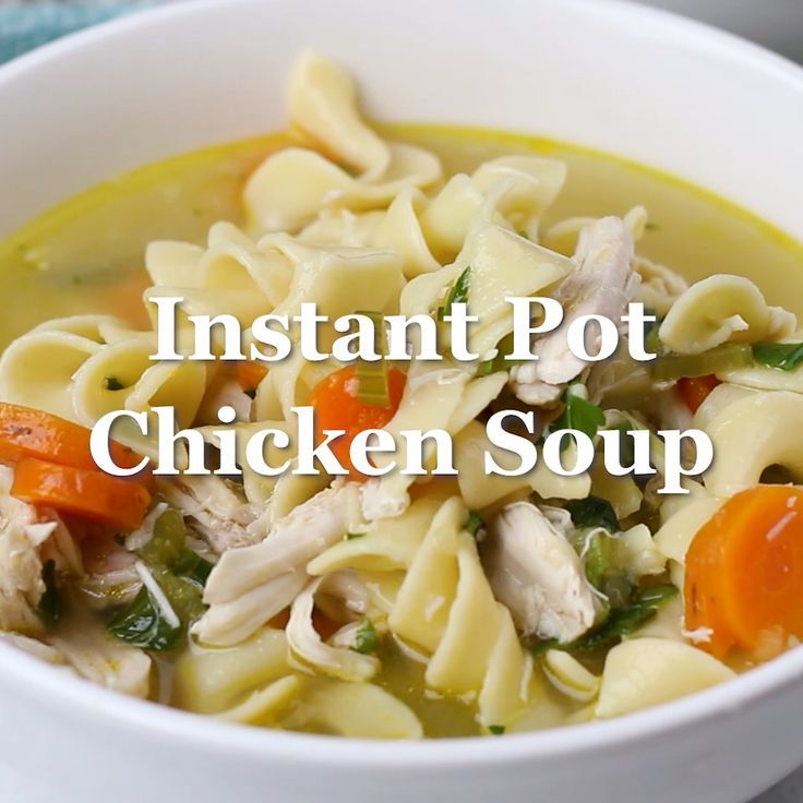chicken noodle soup with egg noodles in 2020  instant pot