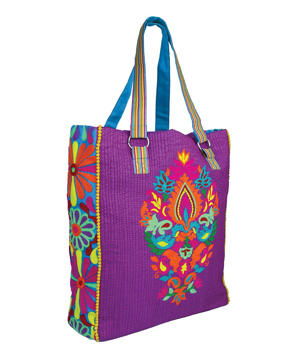 Floral Quilted Tote | Home Love | Pinterest | Floral, Tribal ... : quilted tote bags cheap - Adamdwight.com