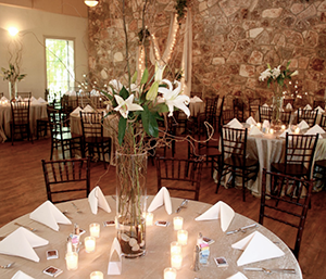Hill country styled wedding venue near and