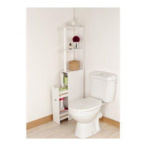 Meuble de rangement WC / toilettes ou salle de bains blanc OSE - Blanc