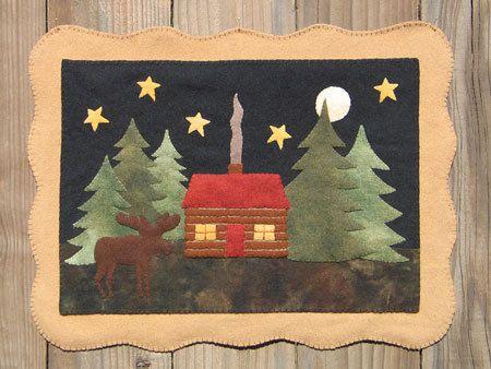 Moose Lake Cabin Wool Applique Pattern By Cabincreek On