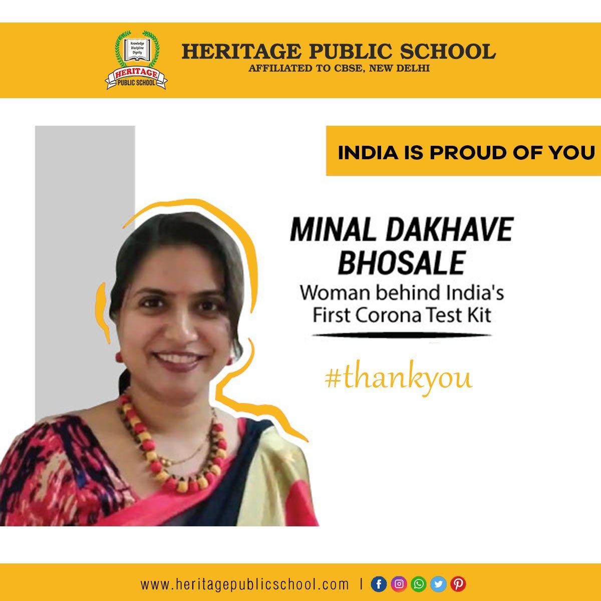 Proud of Mrs Minal Dakhave Bhosale in 2020 Public school