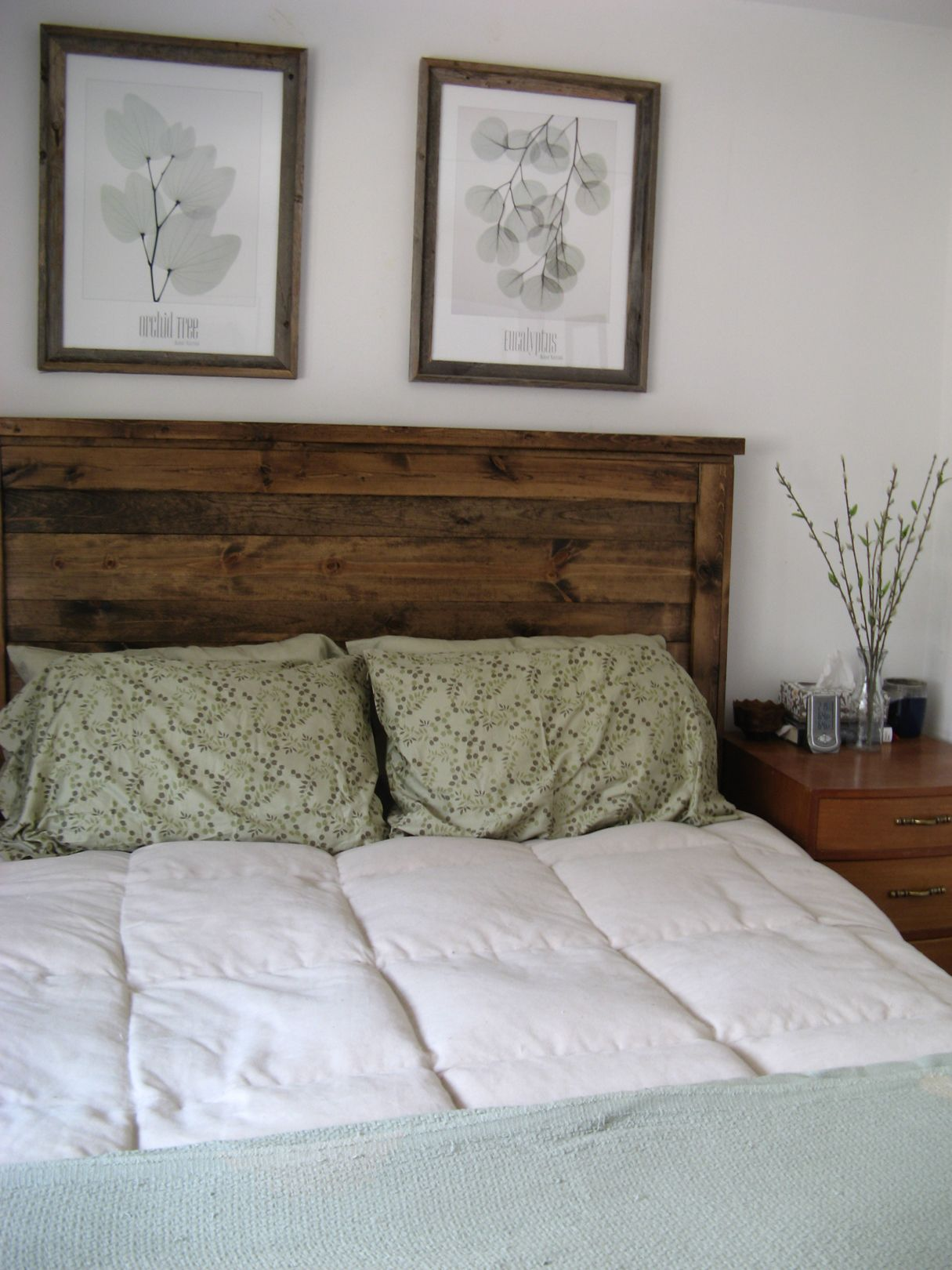 First Project- reclaimed wood look Queen headboard! | Do It Yourself ...