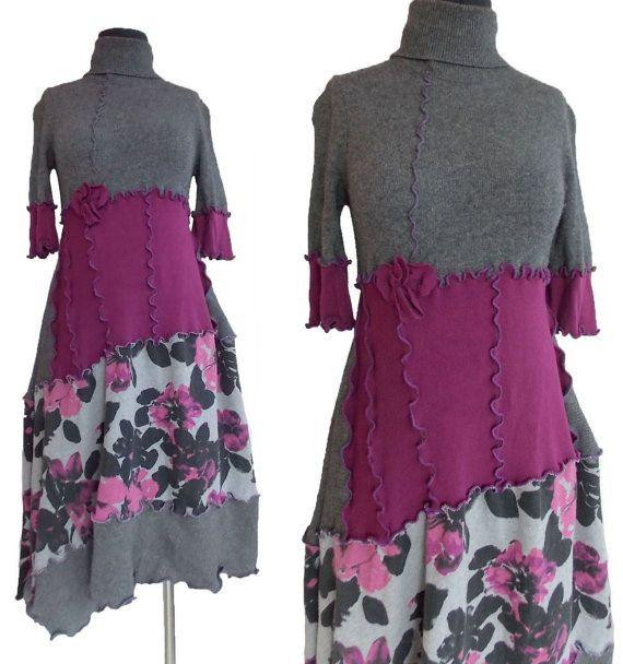Asymmetrischer Pullover Kleid kleinen S/M von RebeccasArtCloset