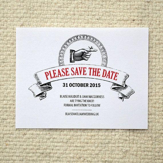 vintage poster wedding save the date diy printable pdf template postcard vintage posters. Black Bedroom Furniture Sets. Home Design Ideas