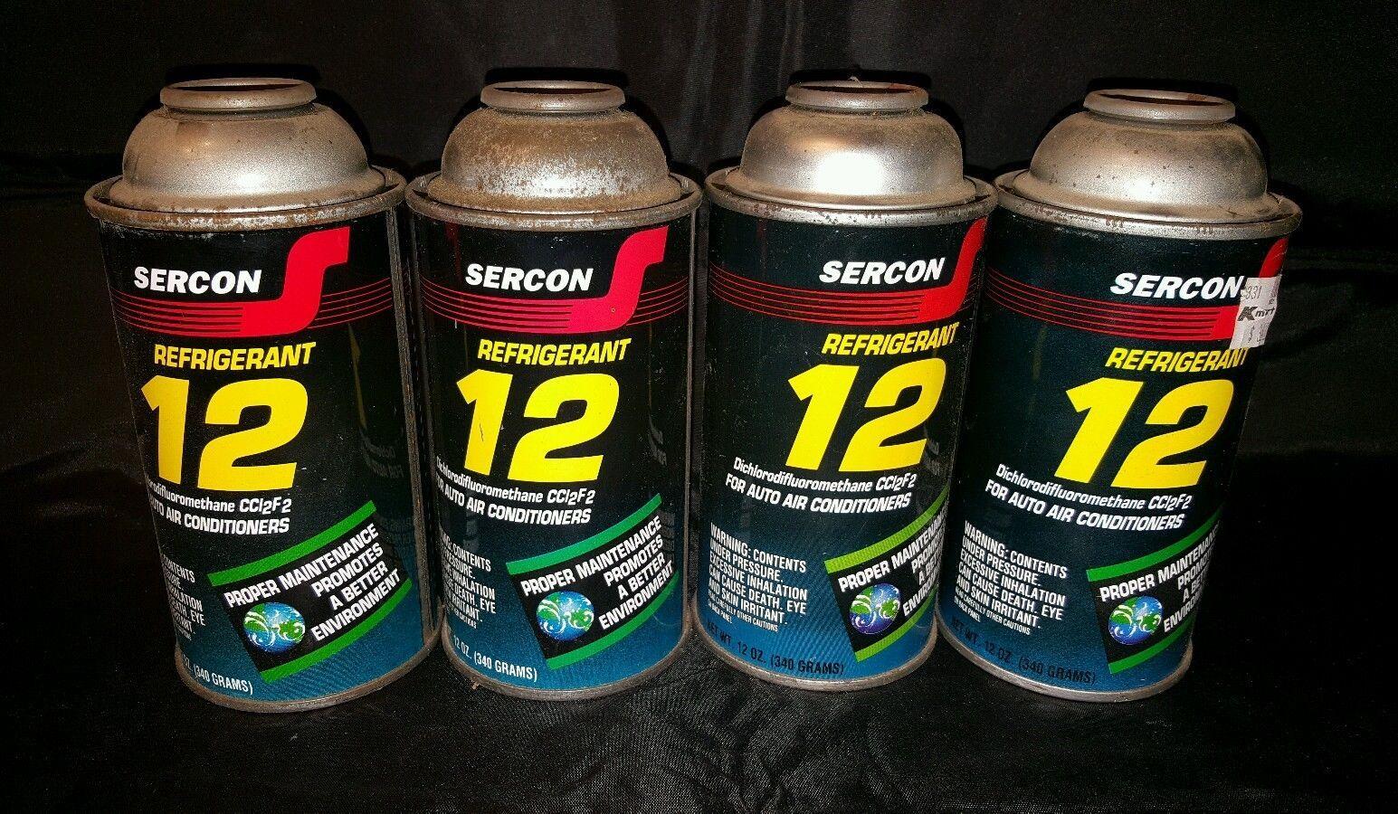R12 Freon Automotive Ac Refrigerant Four 12 Oz Cans Sercon C