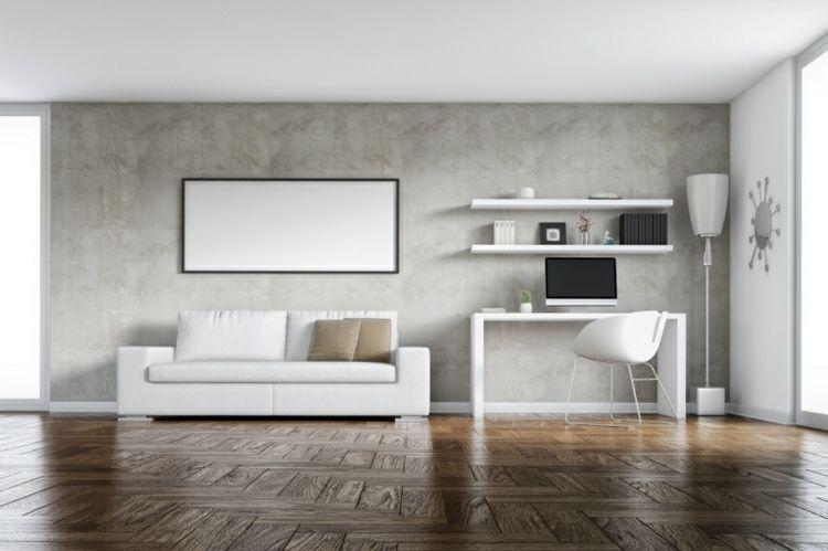 betonwand selber machen spachtel-wohnzimmer-naturmaterialien-sofa