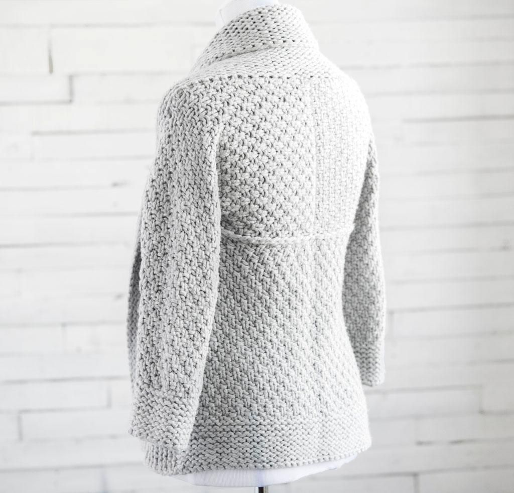 c6f2be5778f34 Courie In Sweater Knitting Kit designed by Littletheorem Knits. Perfect  winter cardigan - a wearable hug!