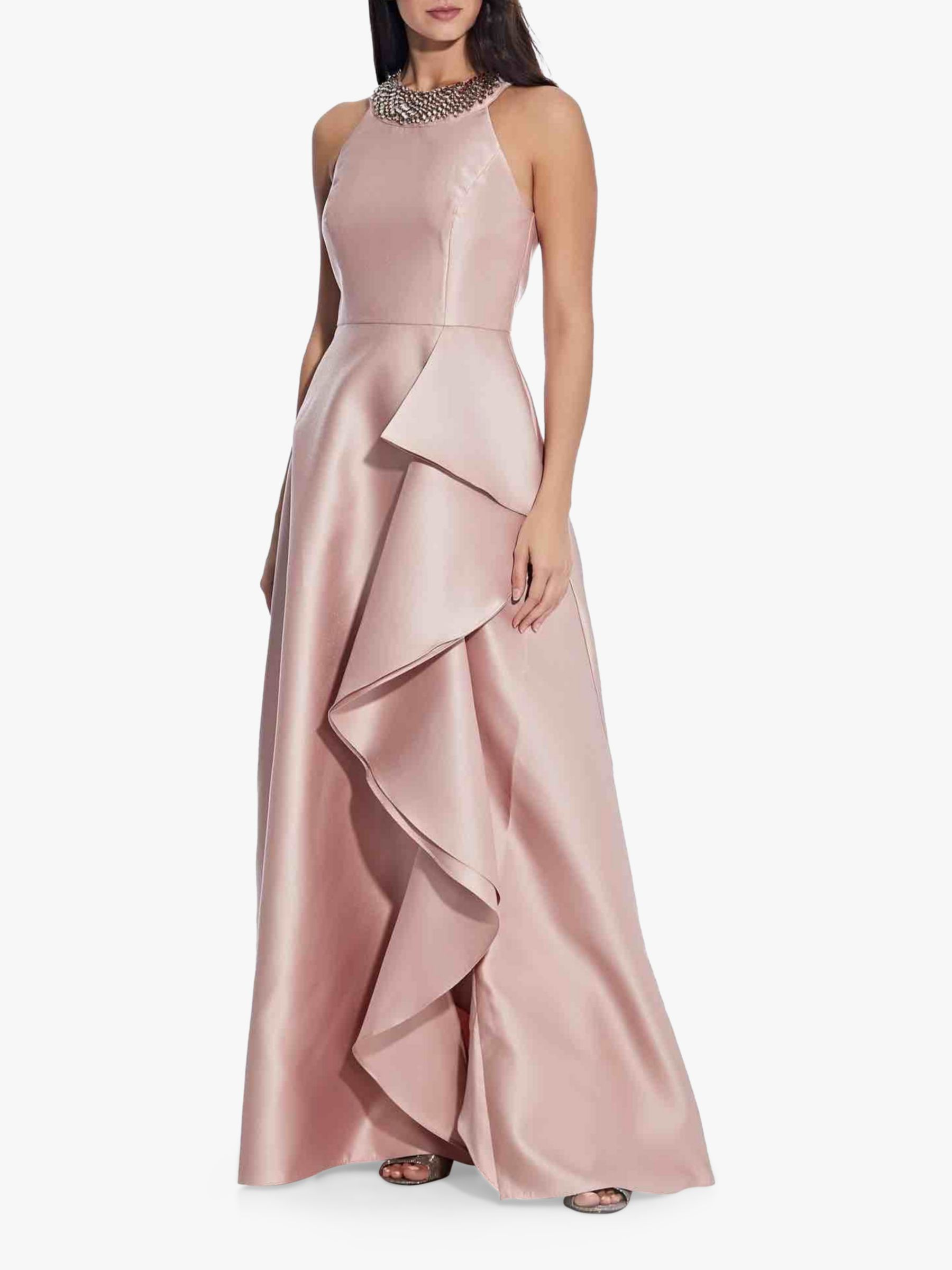 Adrianna Papell Mikado Cascade Gown in 2020 | Dress shapes