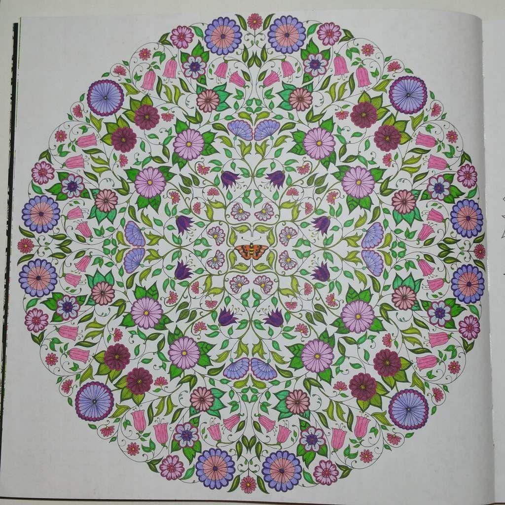 Coloriage issu du livre Jardin Secret Johanna Basford Art thérapie jardinsecret
