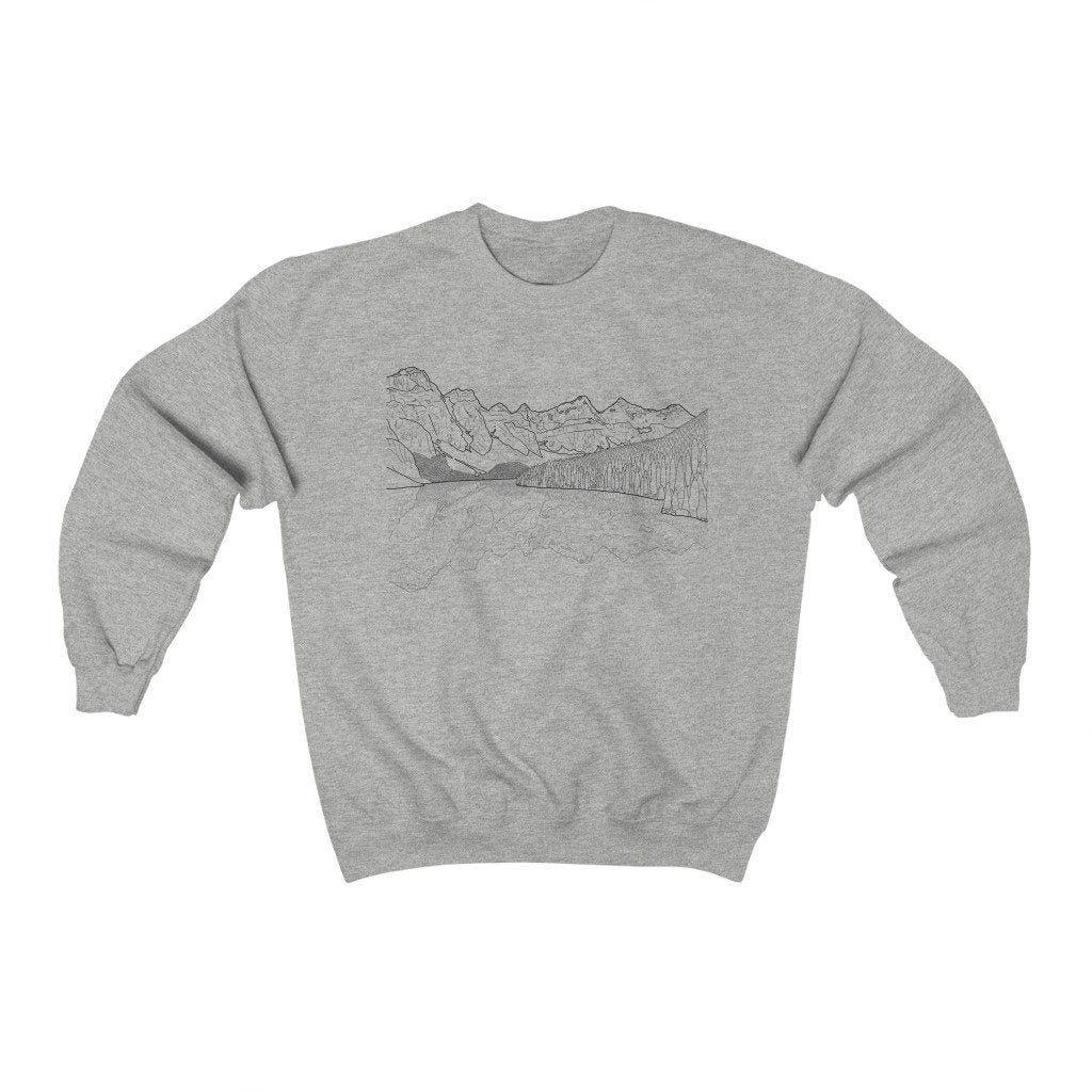 Plus Size Women S Pullover Sweatshirt Banff National Park Etsy In 2021 Sweatshirts Crew Neck Sweatshirt Women Pullover [ 1024 x 1024 Pixel ]