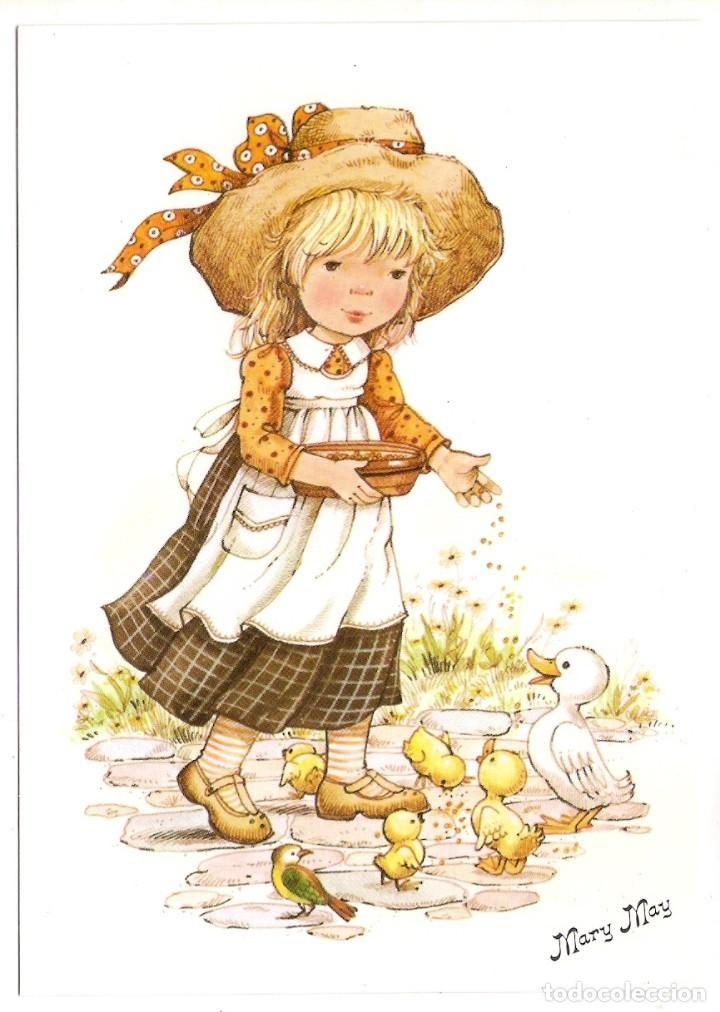 67384 Postal Dibujo Nina Con Sombrero Ilustracion Mary May Ediciones Perla Nº 358 3 Postales Dibujos Y Caricaturas Mary May Ilustraciones Dibujos