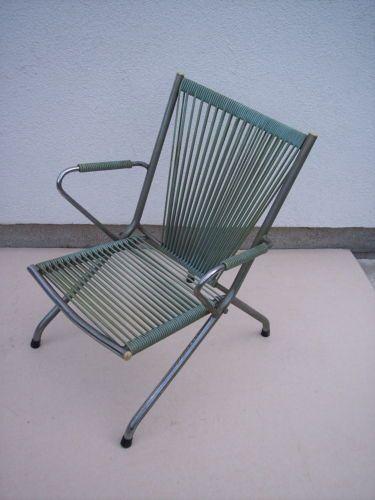 Petite chaise scoubidou verte pour enfant vintage 70 39 s - Chaise scoubidou vintage ...