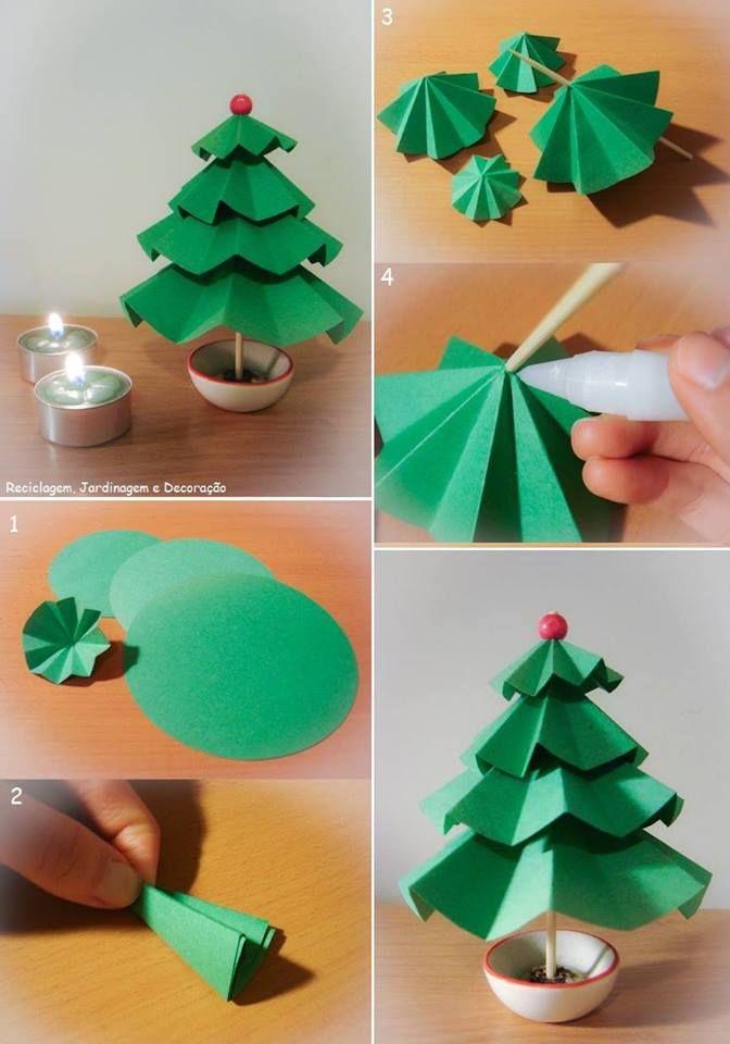Pino de papel rbol de navidad pinterest pino - Arboles de navidad de papel ...