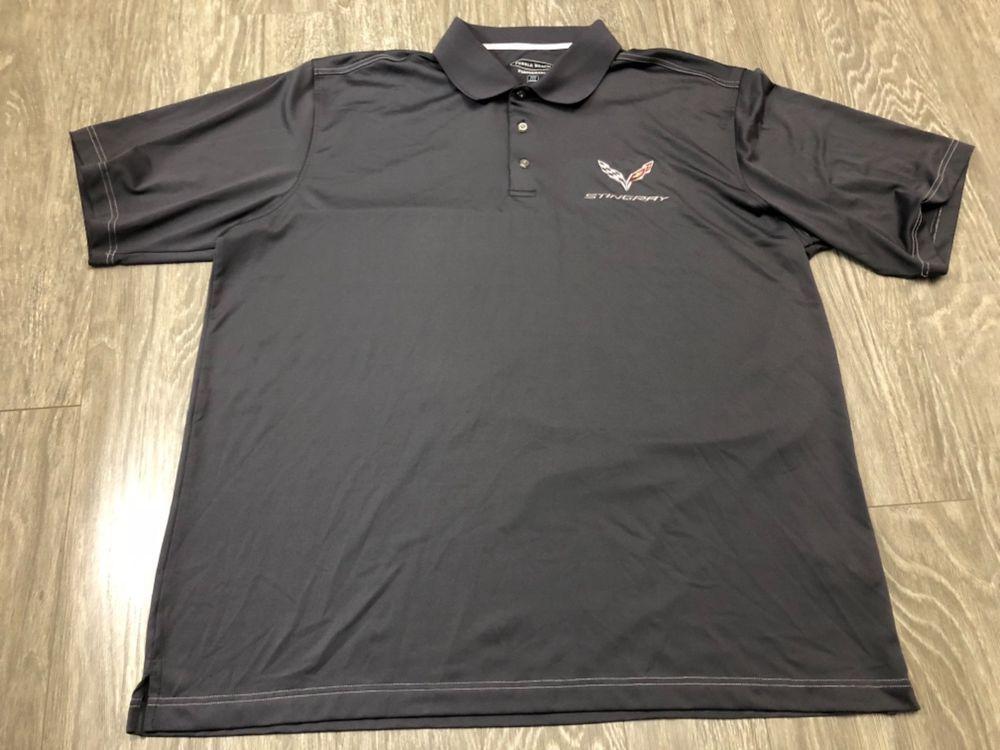 Corvette Stingray Chevrolet Chevy Pebble Beach Golf Polo Shirt Xxl Used Fashion Clothing Shoes Accessories Mensclothing Golf Polo Shirts Shirts Beach Golf