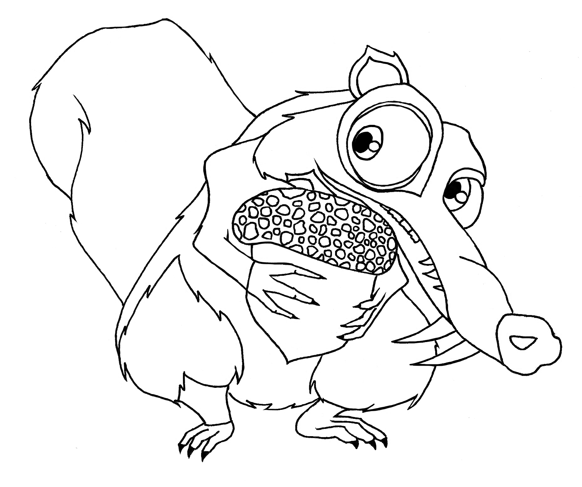 squirrel coloring pages coloring for kids pinterest ice age