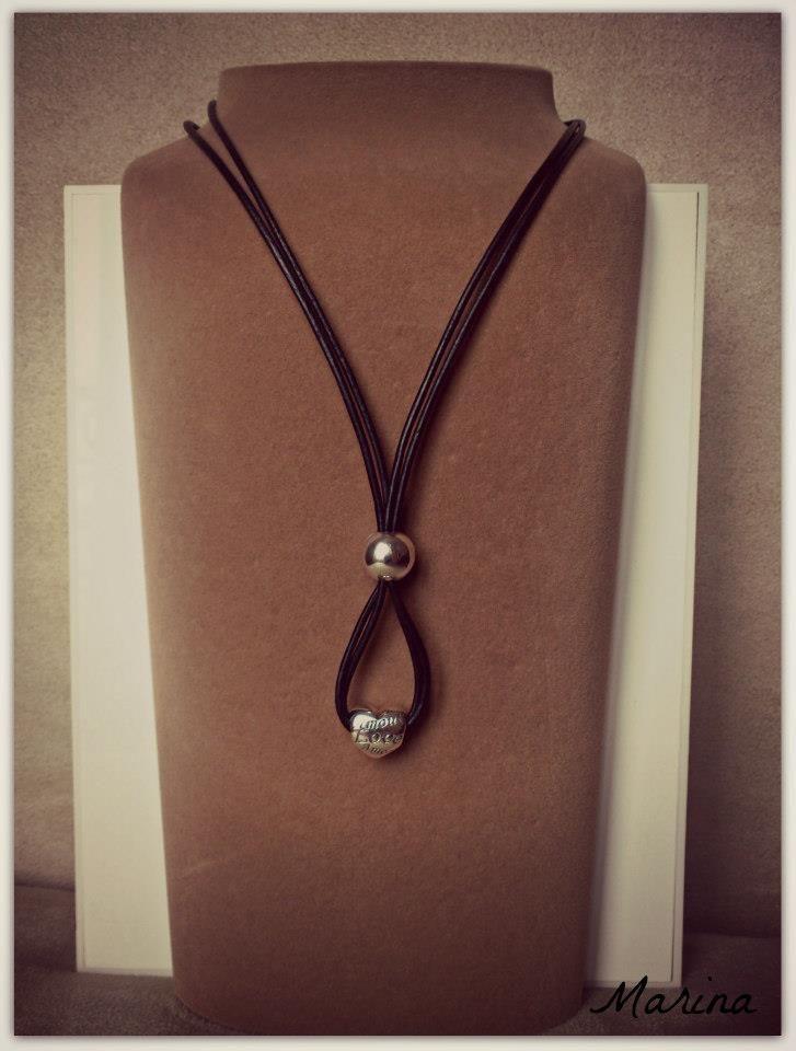 collier cuir femme pandora