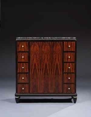 Leon Jallot 1874 1964 Meuble A Hauteur D Appui En Placage D Ebene De Macassar Et Bois De Serpent Meubles Art Deco Art Deco Style Art Deco