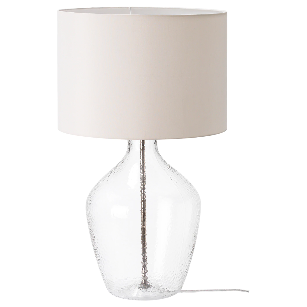 Allanit Table Lamp With Led Bulb White Glass Max 13 W Ikea In 2020 Ikea Table Lamp Glass Table Lamp Lamp