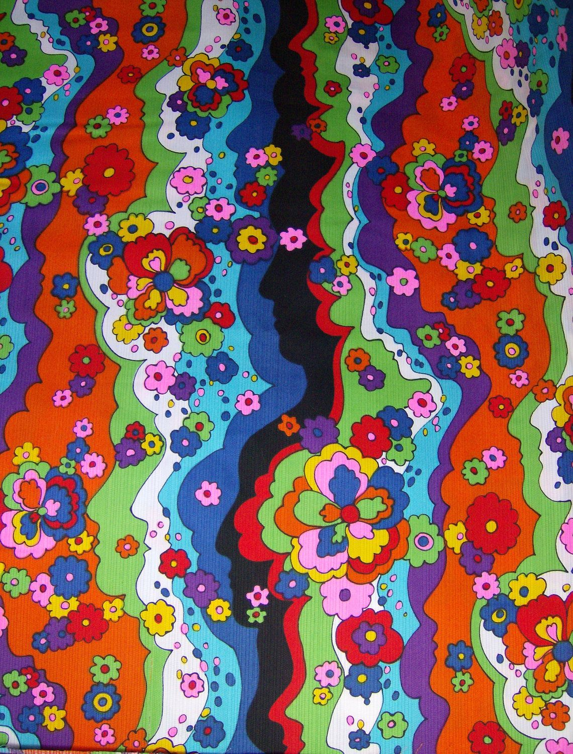RESERVED 1970s Peter Max Era Style Psychedelic Fabric ... Peter Max 60s