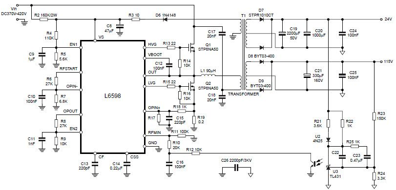 Image result for l6598d power supply