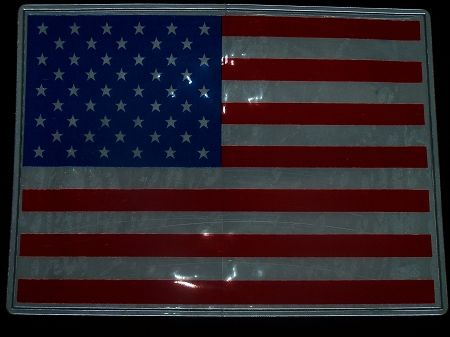 """Reflective American Flag 7.5"""" by 12"""""""