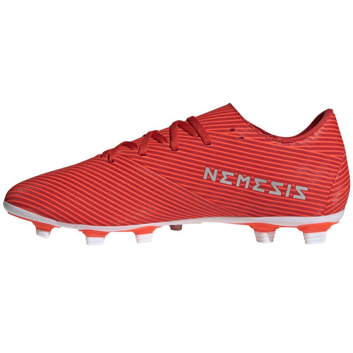Football Boots Adidas Nemeziz 19 4 Fxg M F34393 Red Red In 2020 Football Boots Best Soccer Cleats Football Shoes