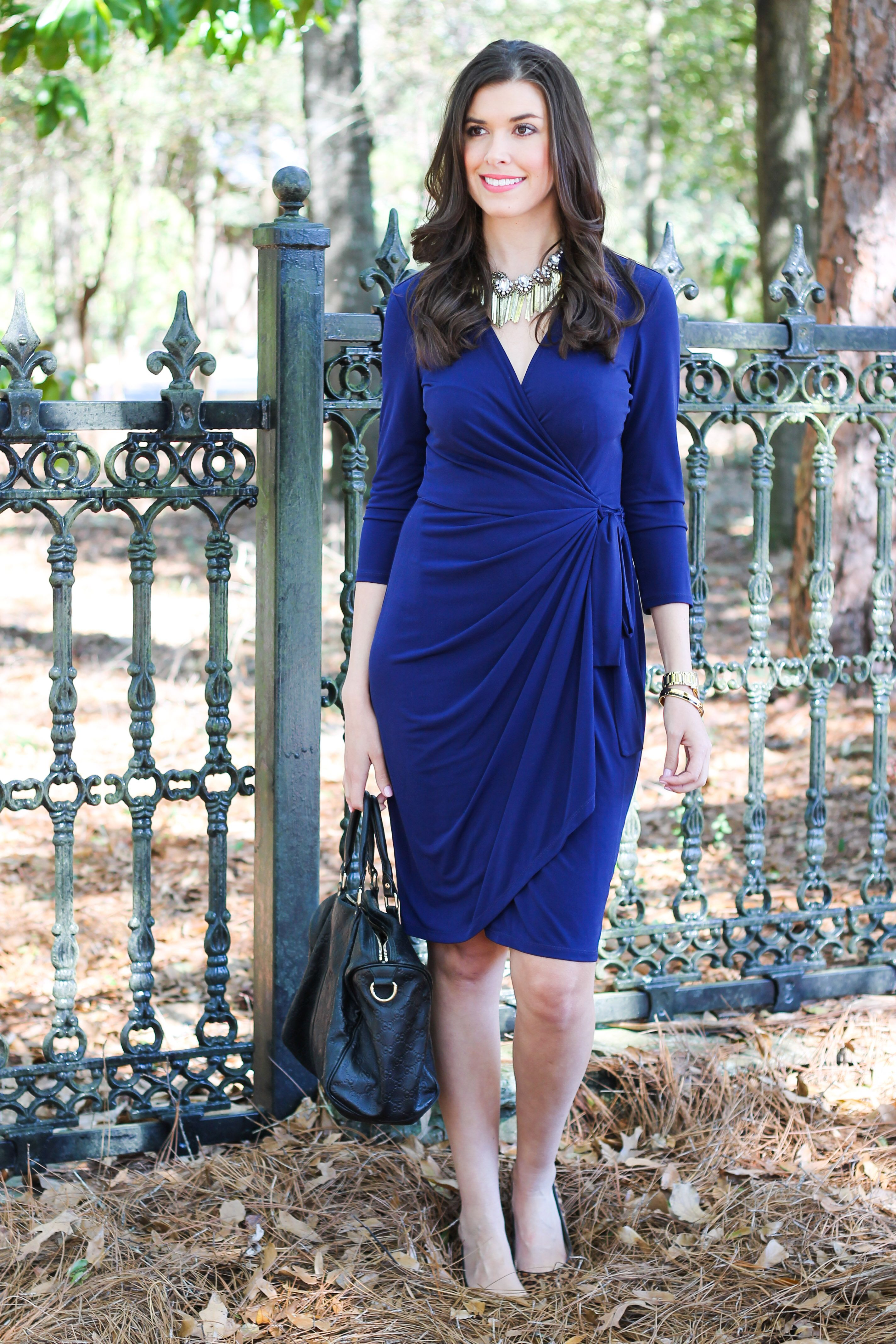 c74dc26cb  Blogger  mctrahan styles a Maggy London wrap dress to create an effortless  and classylook
