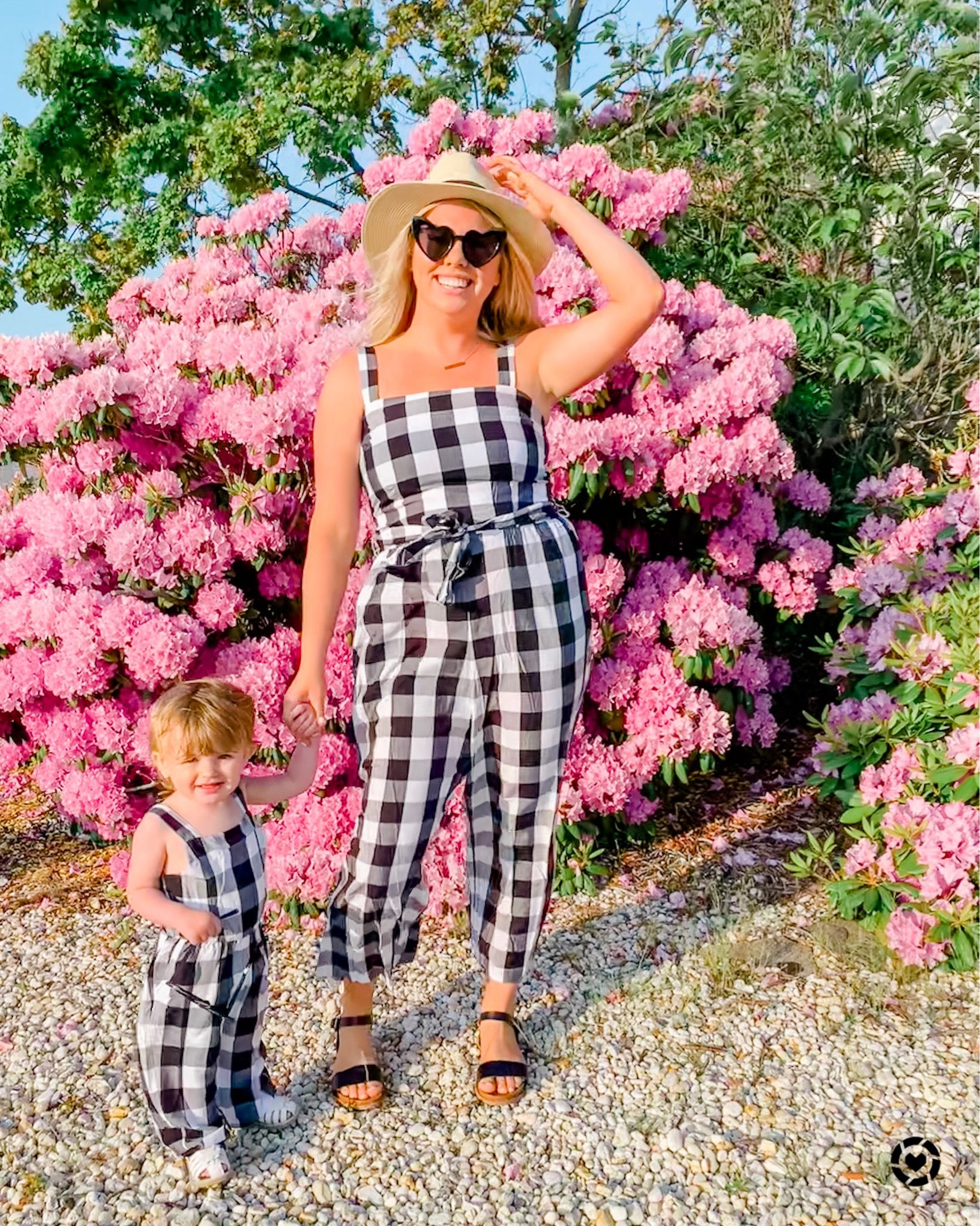 Bryannah_kay mommy and mini matchup style in gingham from