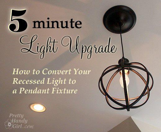 diy pendant light can lights