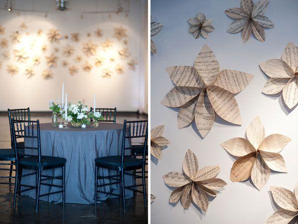Papierblumen als kreative wandgestaltung und 3D wanddeko selfmade