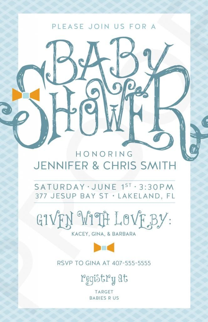 Free #boy #baby #shower printable invite from designer Brittany ...
