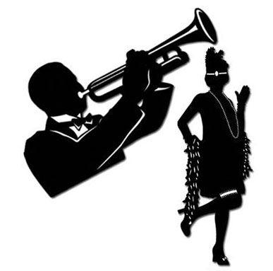 Amazing new orleans jazz silhouettes wanddeko er silhouetten