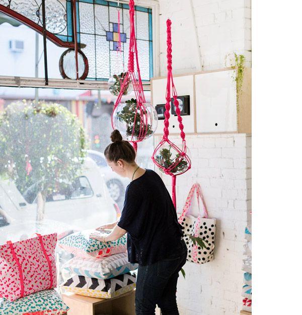 via design files - love the hanging planters - Photo - Sean Fennessy