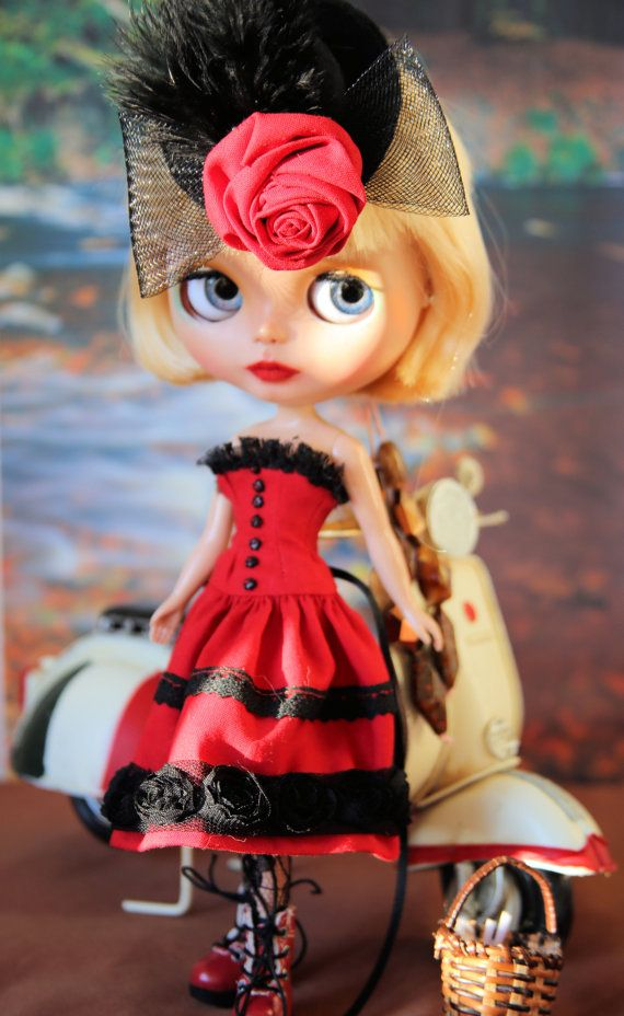 OOAK Custom Blythe Doll Ava by Bravura Dolly by bravuradolly