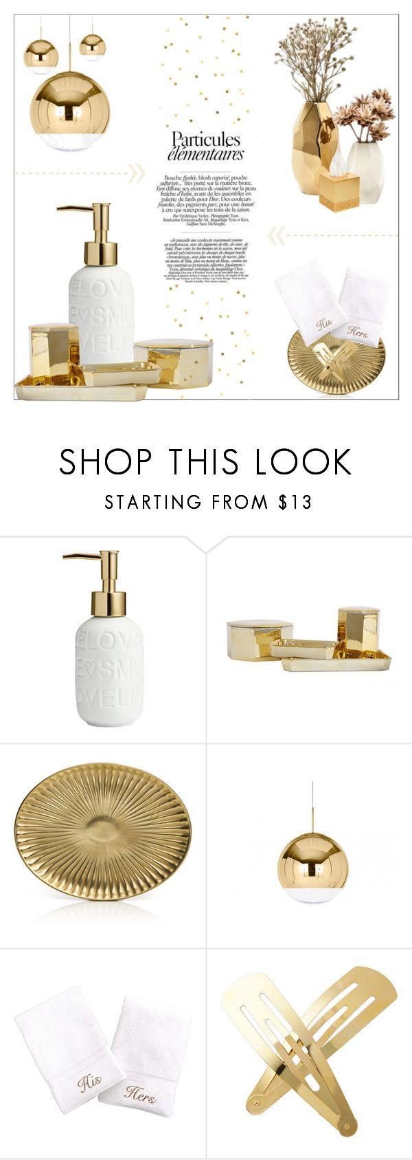 """Gold"" by lulunam ❤ liked on Polyvore featuring interior, interiors, interior design, home, home decor, interior decorating, Jayson Home, Villari, Linum Home Textiles and Adia Kibur"