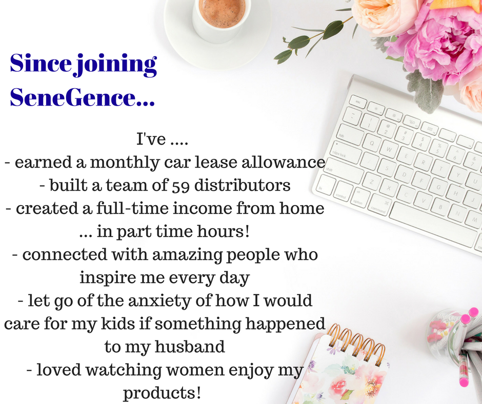 In 4 short months, I\'ve built my SeneGence business into a full-time ...