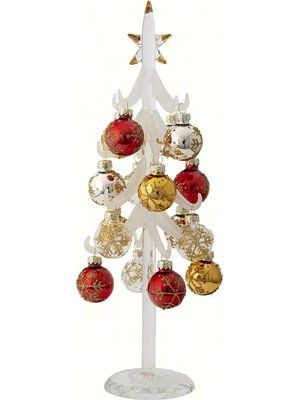5865bb0f389 The Holiday Aisle Tree with Crystal Base Ornament