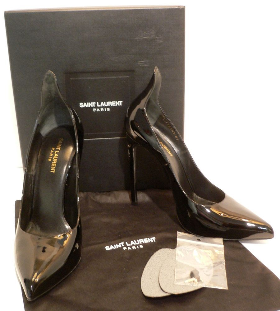 5aefcfd83acd5 YSL YVES SAINT LAURENT High Heel Black Patent Leather Pumps Shoes ...