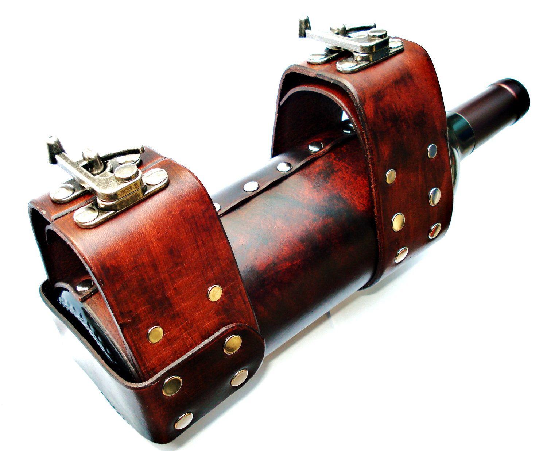 Customizable Leather Wine Bike Holder Leather Bike Holder Bike