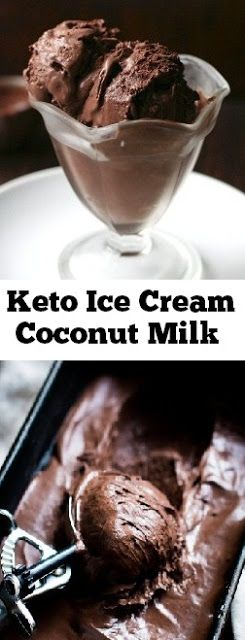 Keto Ice Cream Coconut Milk #keto #icecream #coconutmilk #ketodesserts #lowcarb #ketoicecream
