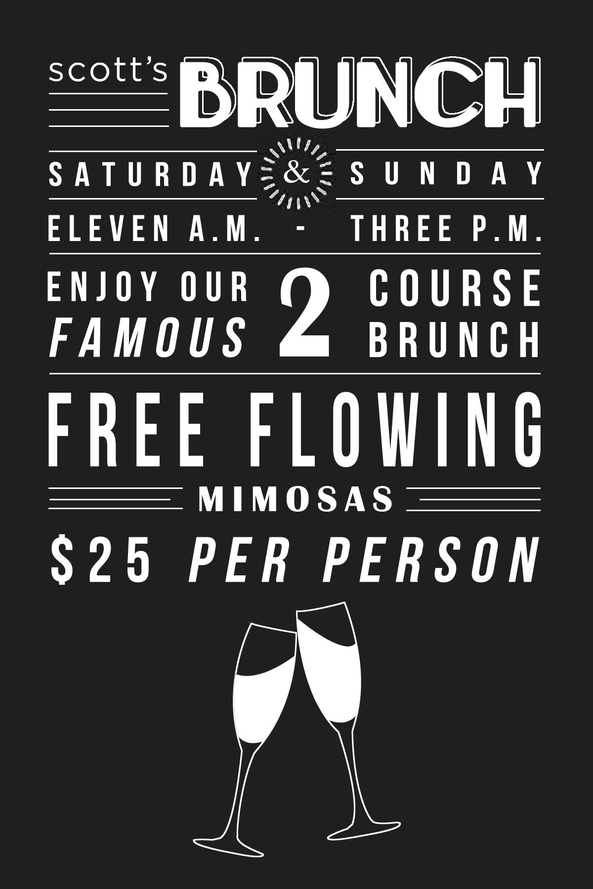 scott's restaurant & bar brunch flyer | // font // | pinterest